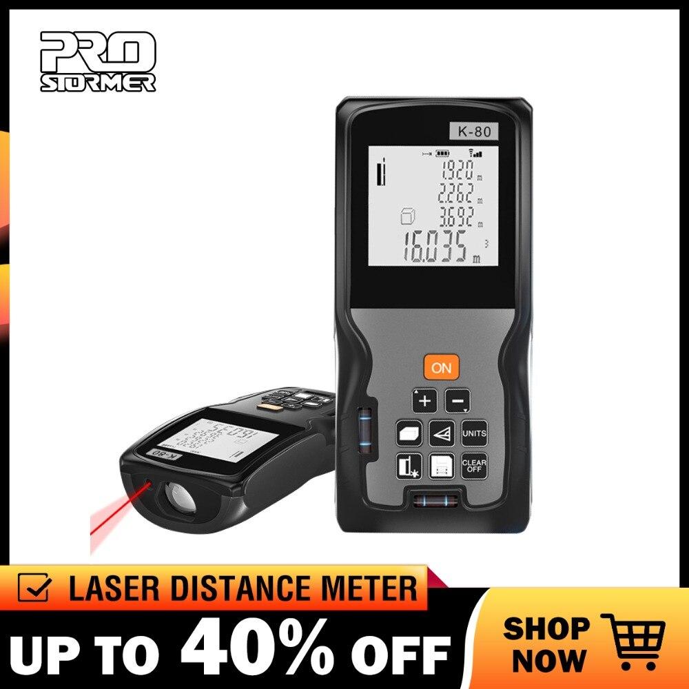 Prostormer Haltegriff Digitale Laser-distanzmessgerät Laser-entfernungsmesser Messen Usb Lade Oder Aaa Batterie 40 M 60 M 80 M 100 M 120 M Modischer (In) Stil;