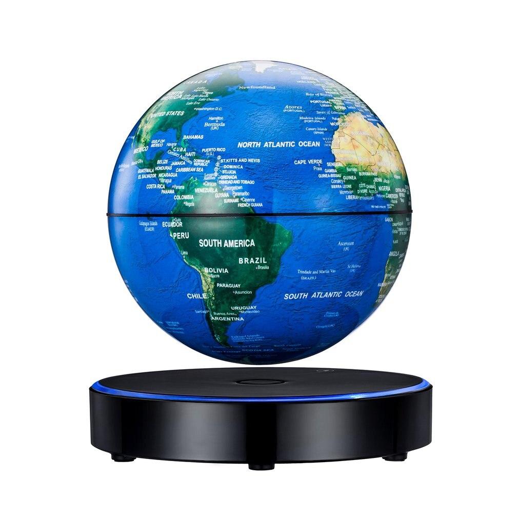 Globe flottant magnétique prise EU bleue pour enfants cadeau enfants géographie électronique Globe flottant carte du monde jouets d'apprentissage
