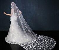 Beautiful Fashion Simple cheap white Ivory Wedding Veil Satin edge one layer wedding accessory Petal bridal veil free shipping