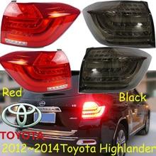 Farol para carros highlander lanterna traseira, 2012 2014; luz traseira led highlander; cor preta/vermelha, highlander luz de nevoeiro