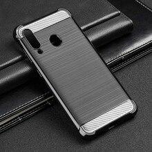 For Samsung A60 Case Silicone Rugged Armor Soft Cover Galaxy SM-A606F/DS SM-A6060 6.3 Phone Fundas Coque