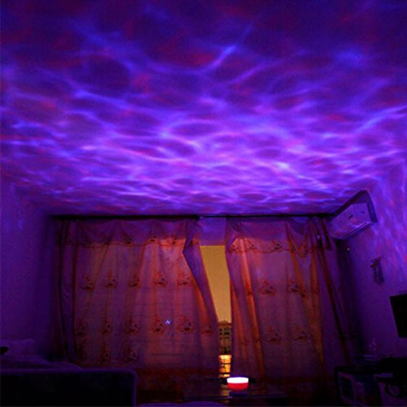 цена на Amazing Romantic Colorful Aurora Sky Holiday Gift Cosmos Sky Master Projector LED Starry Night Light Lamp Ocean Wave Projector