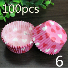 100 pcs/lot Cooking Tools Grease-proof Paper Cup Cake Liners Baking Muffin Kitchen Cupcake Cases Mold