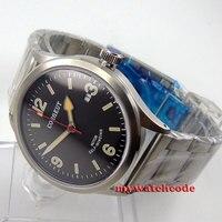 41 мм corgeut черный циферблат miyota автоматический механизм Мужские наручные часы Дайвинг 64