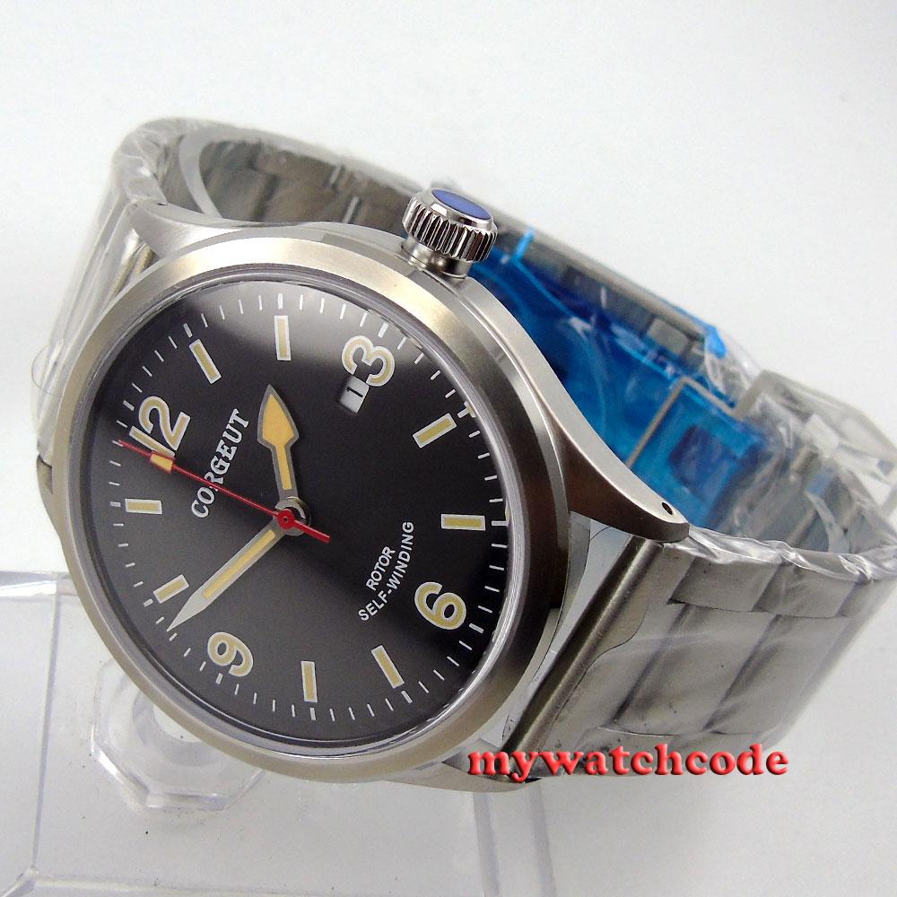 41mm corgeut black dial miyota Automatic movement mens wrist diving watch 64 41mm corgeut black dial sapphire glass miyota automatic movement mens watch c04