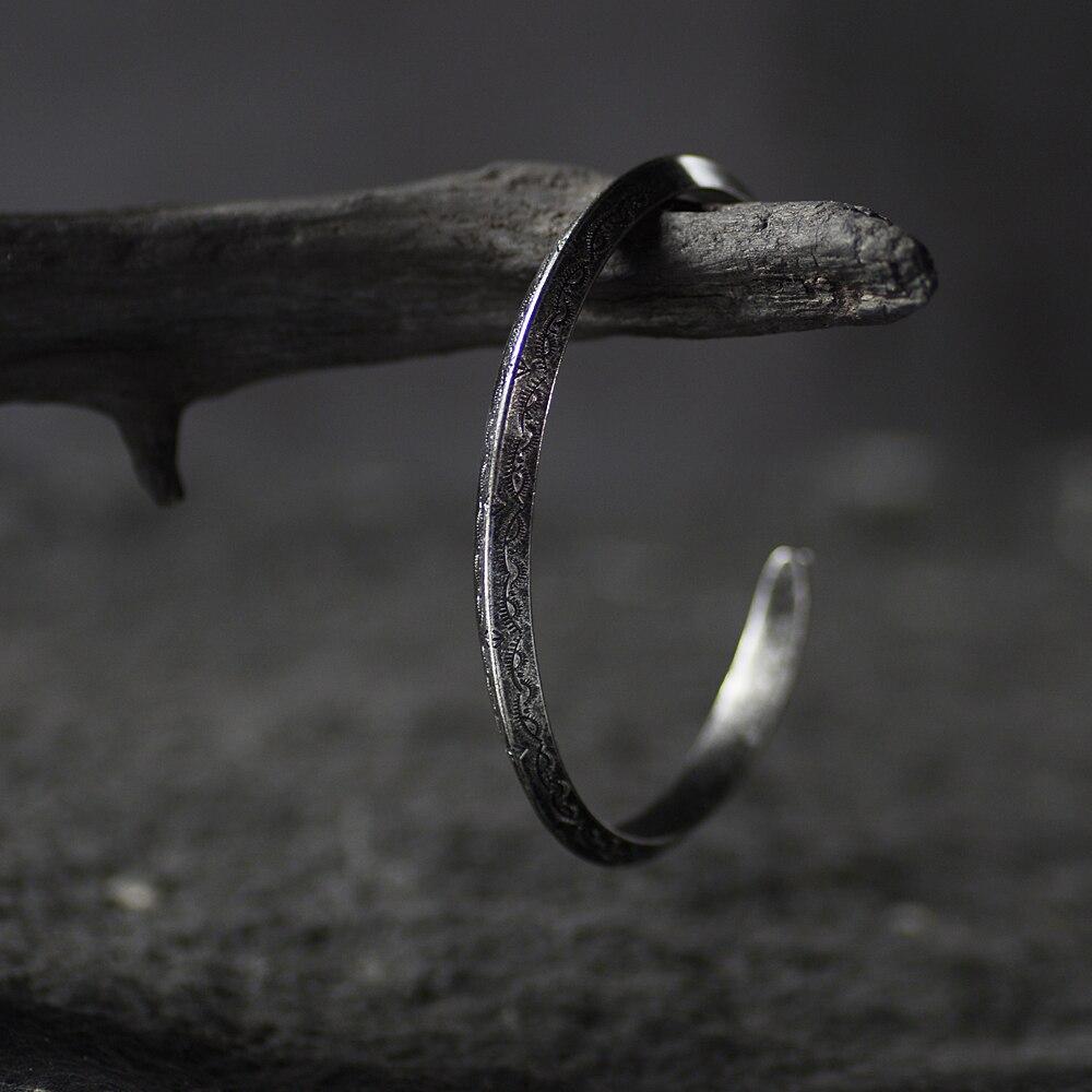 Bracelet rétro Viking titane et acier 1