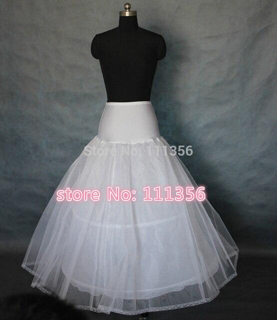 Blanco de Talla grande Negro Lycra 2 Hoop 2 Layer A-line Wedding La Enagua Crinolinas Slips Underskirt Saiote De Noiva