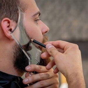 Image 2 - Venta caliente 1 piezas simetría barba de corte Shaper estilo de plantilla peine Barbero herramienta NShopping
