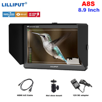 Lilliput A8S 3G SDI 4K HDMI DSLR Monitor 8.9 Inch LCD IPS 1920x1200 8bit Full HD Display On Camera Field Monitor for Cameras