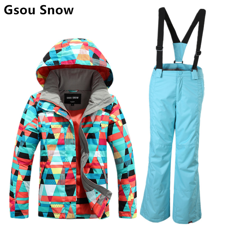 Counter genuine  gsou snowchildren's ski suit 018 parent child ski suit cheerway customer counter people counter visitor counter