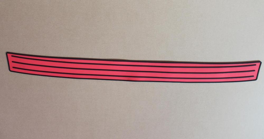 Авто задний бампер резиновый протектор для volkswagen vw Golf 7 jetta Golf 6, passat, bora, Skoda Octavia Fabia, superb - Название цвета: Красный