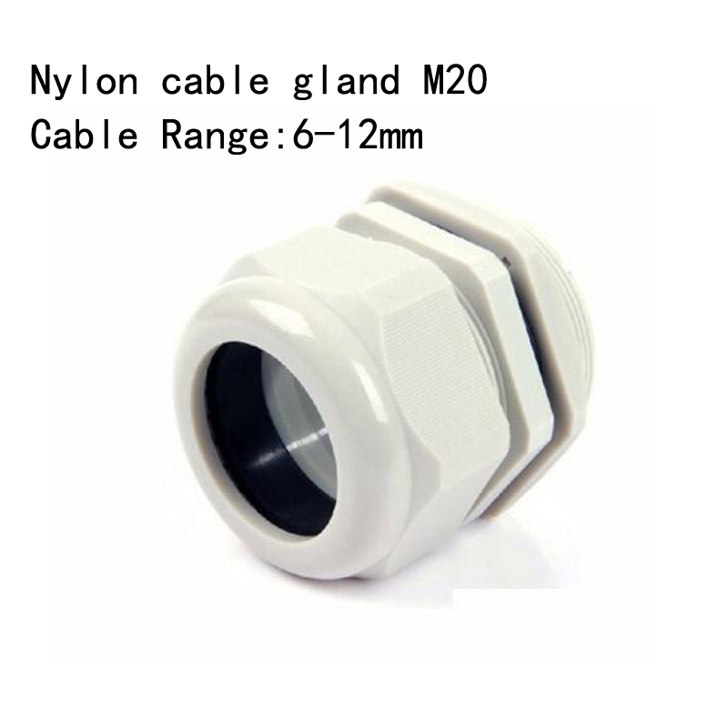 100PCS <font><b>M20x1.5</b></font> IP68 Waterproof Nylon Cable Gland for 6-12mm Cable image