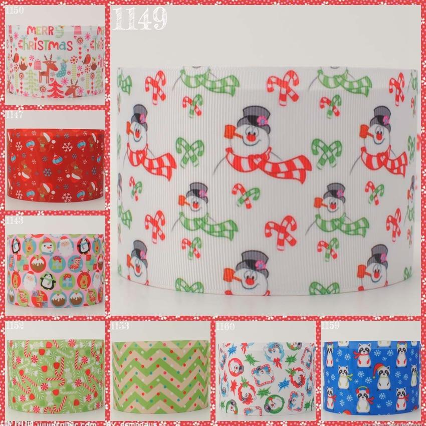 NEW sales 50 yards 3 75mm Merry Christmas ribbon printed grosgrain free shipping DIY