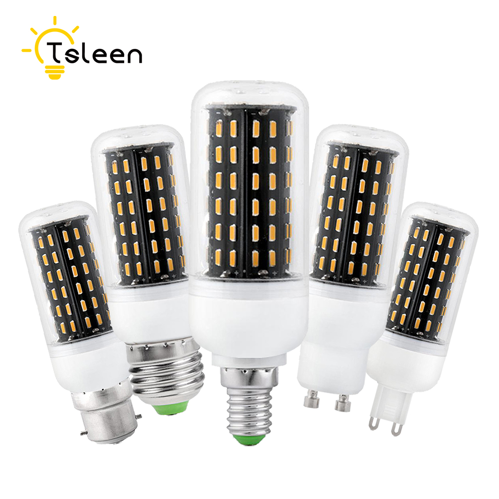 Tsleen 5pcs led corn bulb e27 e14 smd 4014 lamparas led for Lampada led e14