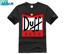 Duff Beer T-shirt Tops Short Sleeve Tshirt Free Shipping  Mens personality funny