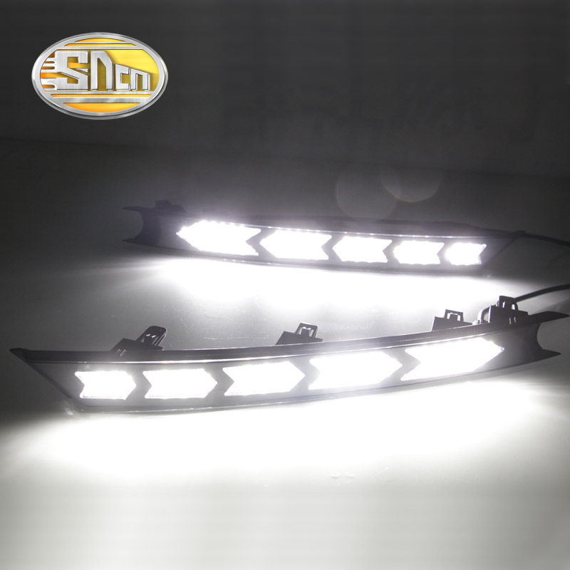SNCN With Yellow Flowing Turning Function Waterproof ABS Car DRL LED Daytime Running Light For Mazda CX-5 CX5 CX 5 2017 2018