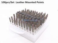 100pcs Set Assorted Leather Mounted Point Mold Grinding Head Ceramic Mounted Stone Polishing Dremel Rotary Tools