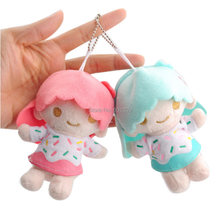 10/Lot 12cm Little Twin Stars Kiki Lala Plush Dolls Soft Dolls For Baby Kids Keychains Retail(China)