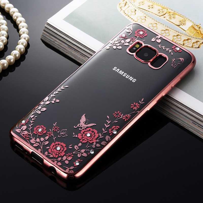 Caixa do telefone celular para samsung galaxy s6 s7 borda s8 s9 mais s3 duos s4 s5 neo nota 3 4 5 8 note8 núcleo grande prime claro brilho capa