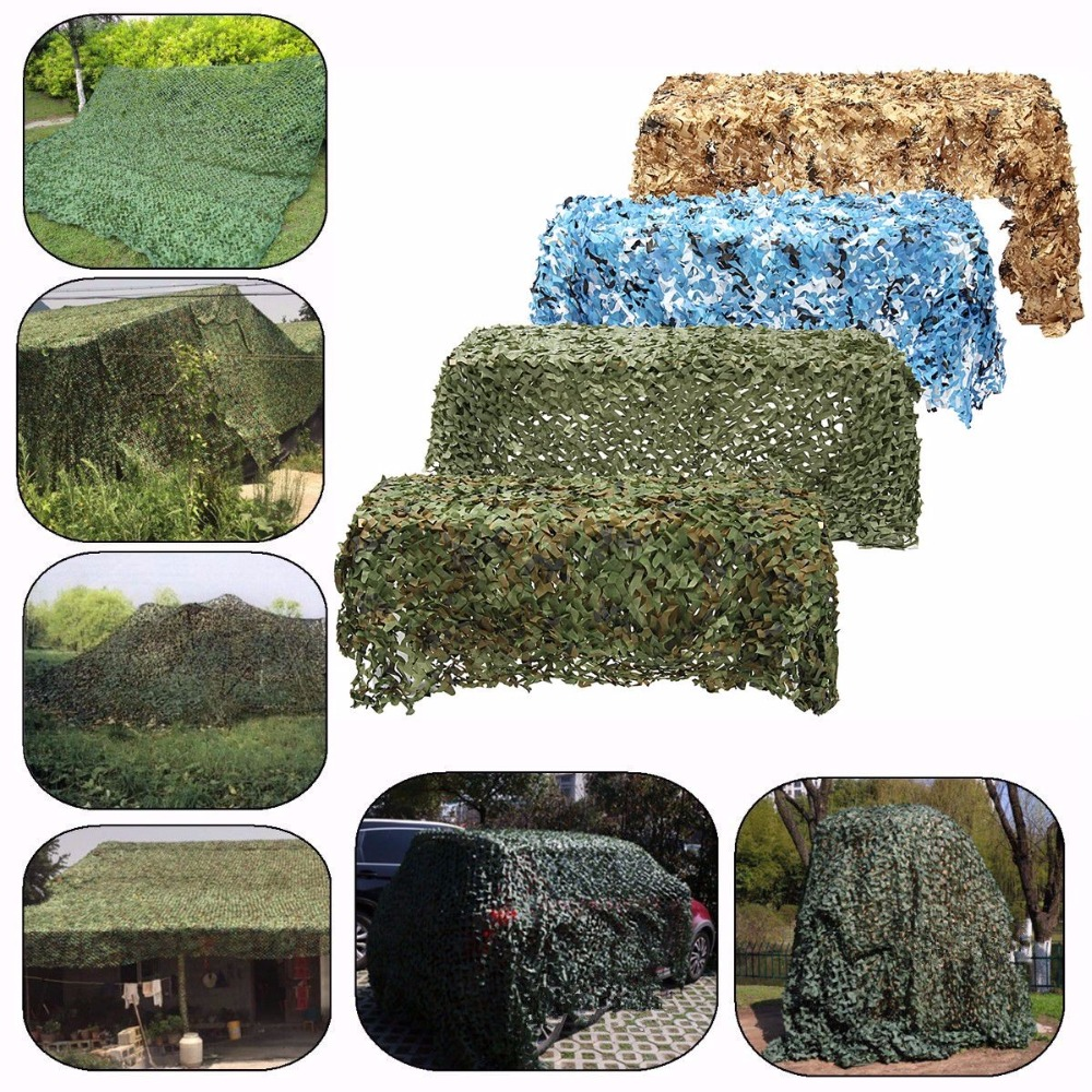 Image 5 - Military Camouflage Net Sun Shelter Woodland Army Camo Netting Hunting Camping Nets Car Covers Tent Shade 2m*4m/2m*5m/3m*5m-in Sun Shelter from Sports & Entertainment