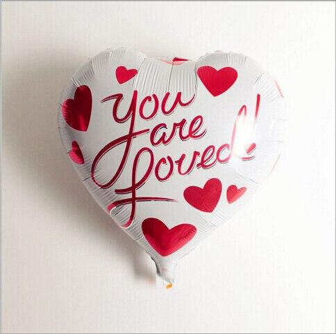 OURUOLA 1Pcs The New Aluminum Balloons Heart-Shaped Balloon Toys For Children Ki