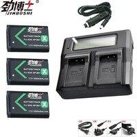 3pcs NP BX1 NP BX1 NPBX1 Battery + LCD Dual Charger For SONY DSC RX1 RX100 RX100iii M3 M2 WX300 HX300 HX400 HX50 HX60 GWP88