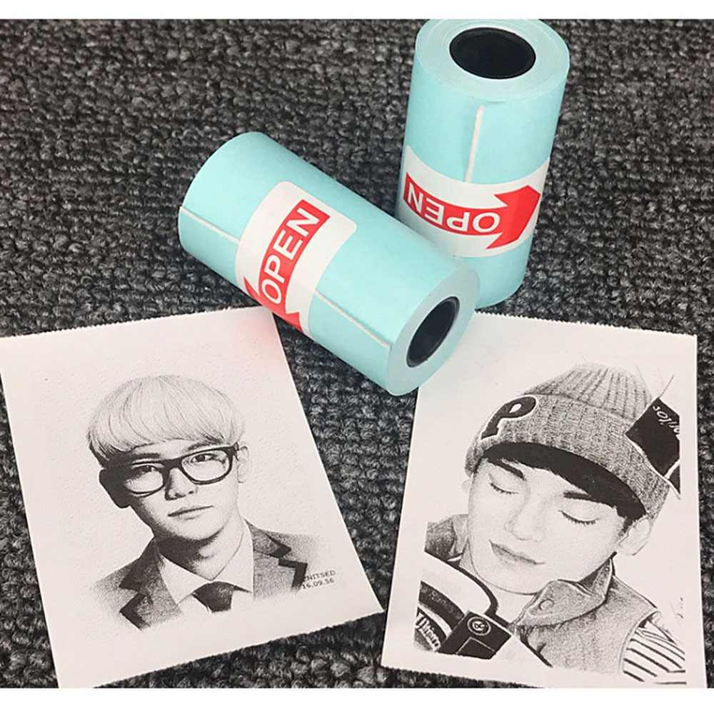 3 Gulungan Printing Paperang Stiker Kertas Foto Kertas untuk Mini Pocket Photo Printer Paperang Bill Penerimaan Kertas