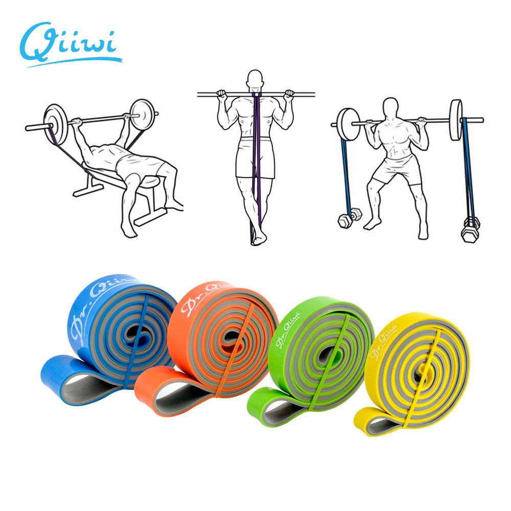 Dr.Qiiwi Resistance Bands Exercise Elastic Band Workout Rubber Loop Strength Pilates Fitness Equipment Training Expander