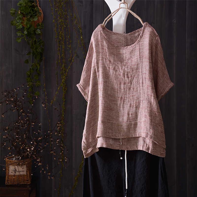 ZANZEA женская блузка Туника Топы Женская рубашка Женская Повседневная Свободная короткий рукав Blusas винтажная Хлопковая сорочка Mujer плюс размер
