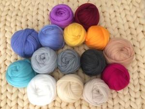 Image 2 - Fil à tricoter, bras Super épais, couverture, fil volumineux, Imitation laine mérinos, 1000g par balle, cadeau de noël