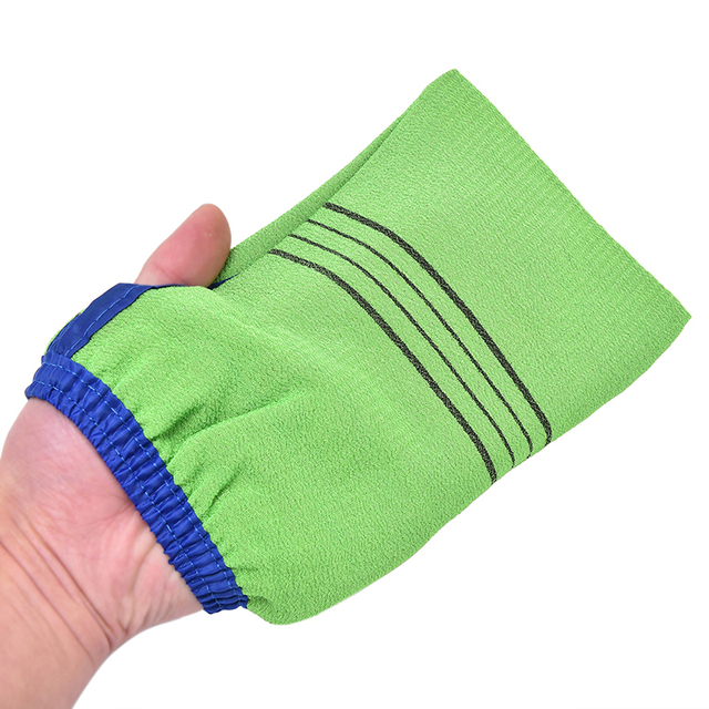 1pc Shower Spa Exfoliator Two-sided Bath Glove Body Cleaning Scrub Mitt Rub Dead Skin Removal Magic Peeling Glove 4