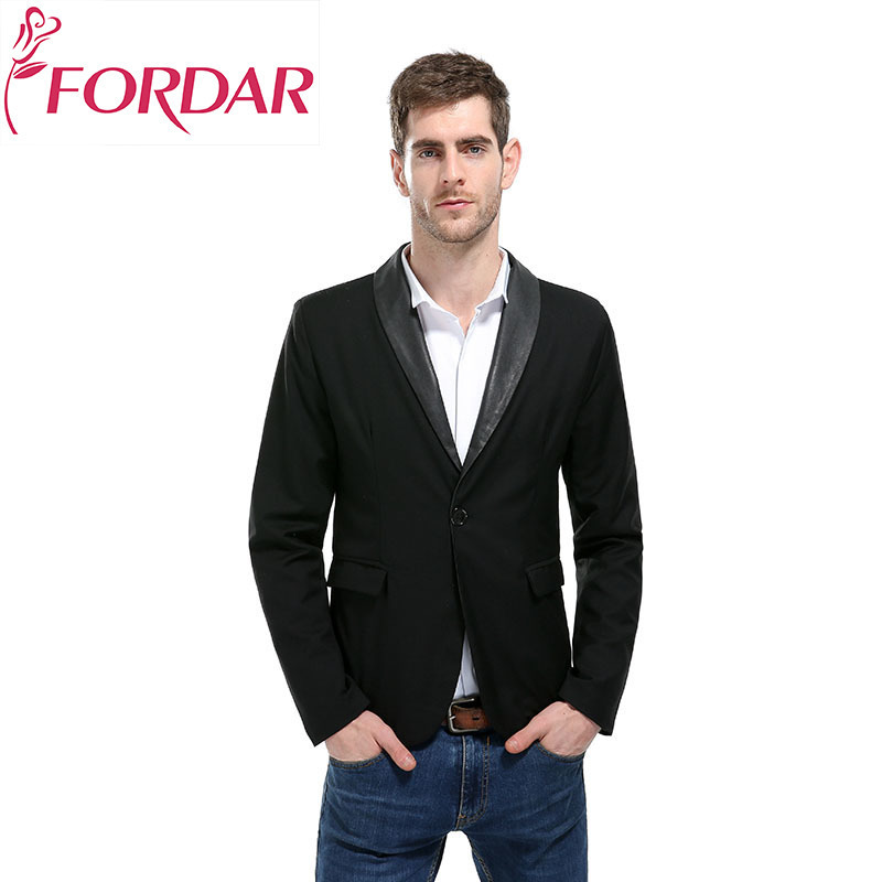 2018 New Arrival Long Sleeved Mens Suite Solid Color V-neck Male Blazers Single Button S ...