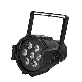 8 Sztuk/partia Mini LED Par Quad 7x12 W Mycia Lampa Par Amerykański DJ RGBW 4in1 DMX