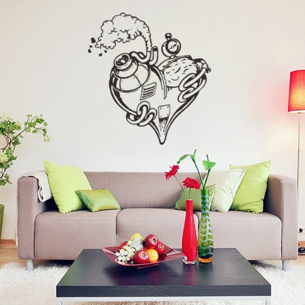 online get cheap engine wall aliexpress com alibaba group love heart steam engine wall sticker living room bedroom wall stickers high quality china