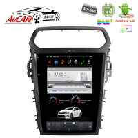 Tesla Style for Ford Explorer radio 2013 2017 car gps navigation Bluetooth WIFI 4G Vertical Stereo car dvd player AUX