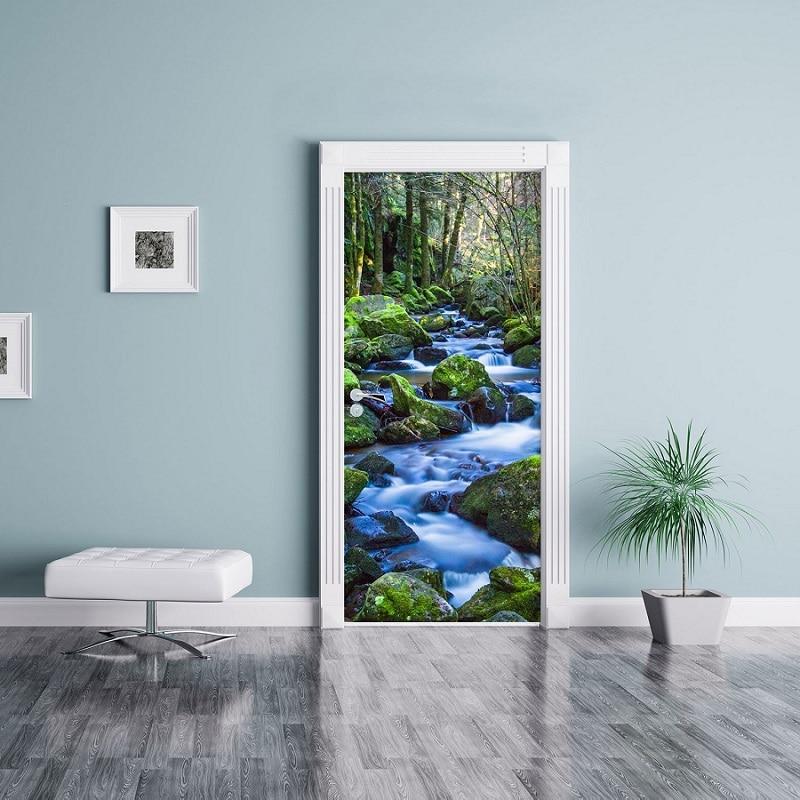 фотообои на двери дорфлекс доме дерева, стекла