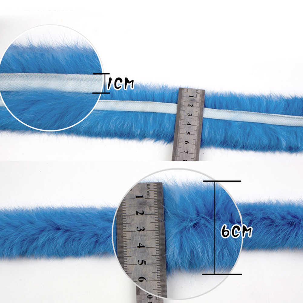 Diy 액세서리 모피 다운 재킷 리본 인공 토끼 모피 테이프 바느질 트리밍 의상 솜털