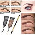 Maquillaje de la Marca profesional 1 unids Mascara Para Cejas Pincel + 2 unids Brown Henna Tinte de Cejas Ceja Maquillaje Resistente Al Agua conjunto
