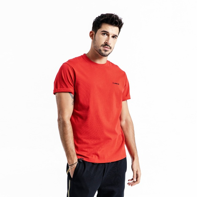 Men's Slim Fit T-Shirts  100% Cotton Embroidered Casual Basics O-neck