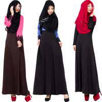 Fashion 2016 Hot Muslim Dress Abaya Robe Lace Slim Black Long Dresses Malaysia Abayas In Dubai Muslim Women Clothing Dress