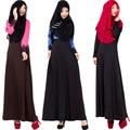 Moda 2016 Hot Vestido Muçulmano Abaya Robe Lace Fino Preto Longo Vestidos Malásia Abayas Em Dubai Muçulmano Roupas Femininas Vestido