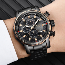 LIGE Mens Watches Top Brand Luxury Military Sport Watch Men Stainless Steel Waterproof Clock Quartz Wristwatch Relogio Masculino цена