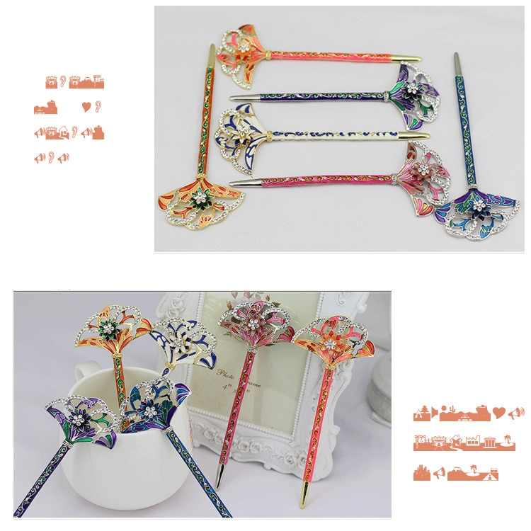 Five Colors Korea Hair Ornaments Hairwear For Women or Bridal Ancient Classical Color Draw Hairpins 3