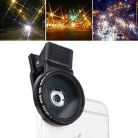 M3 4 em 1 Universal Professional Camera Lens 37mm Estrela 4/6/filtro para iphone 7 plus samsung s7 edge 8 lg lente de smartphones