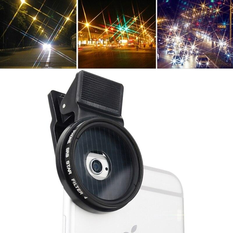 bilder für M3 4 in 1 Universal Professional Camera Lens 37mm Sterne 4/6/8 filter für iphone 7 plus samsung s7 edge lg smartphone objektiv