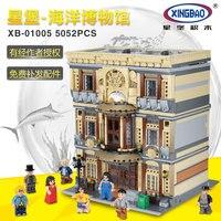 XingBao 01005 5052Pcs NEW Creative MOC City Series The Maritime Museum Set Children Building Blocks Bricks DIY Toys Model Gifts