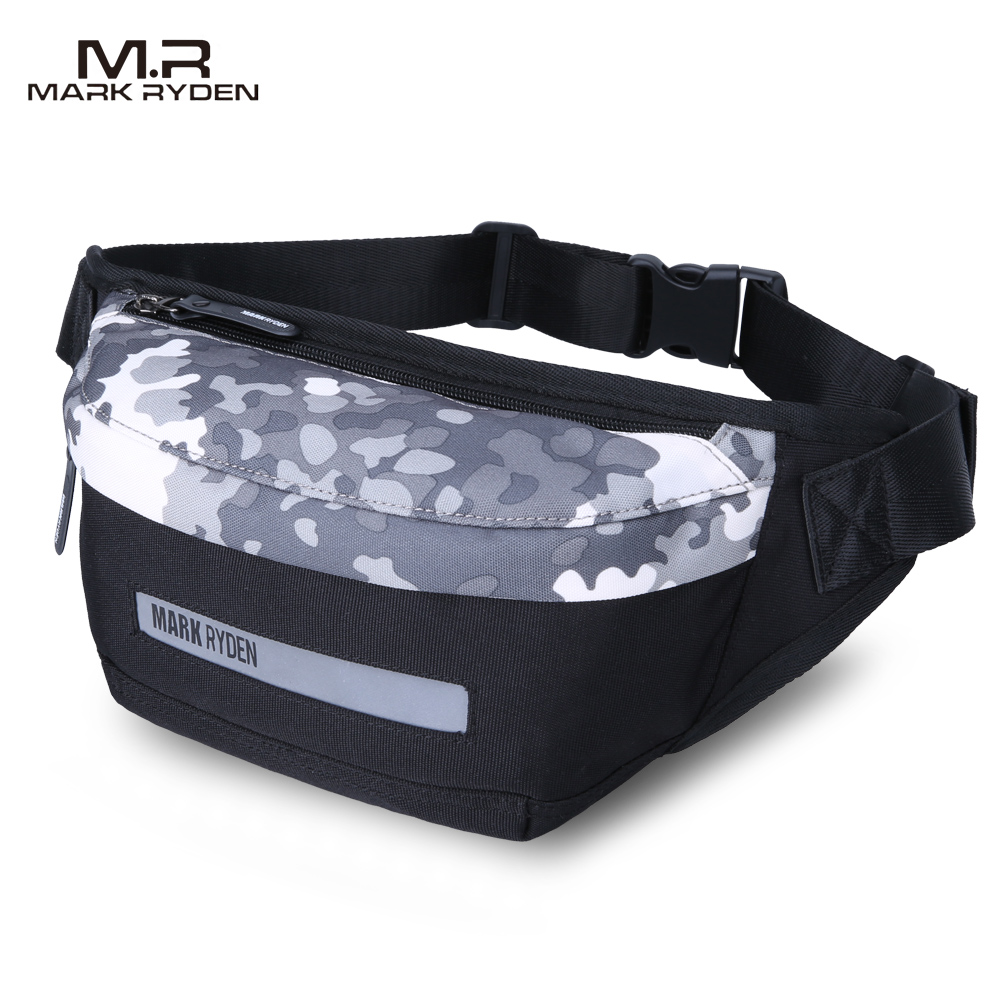 Mark Ryden 2018 New Men Waist Pack Multi-functional waist bag Fashion leisure canvas bag Inclined shoulder bag outdoor diagonal leisure sports canvas waist bag