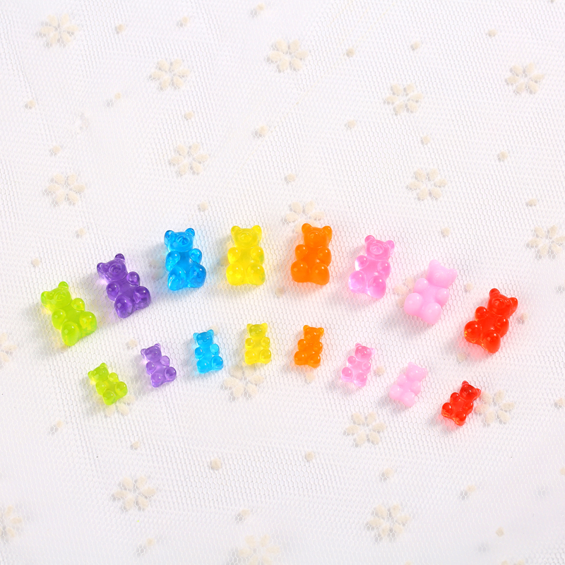40pcs Mixed Cute Resin Candy Gummy Bear For DIY Decoration