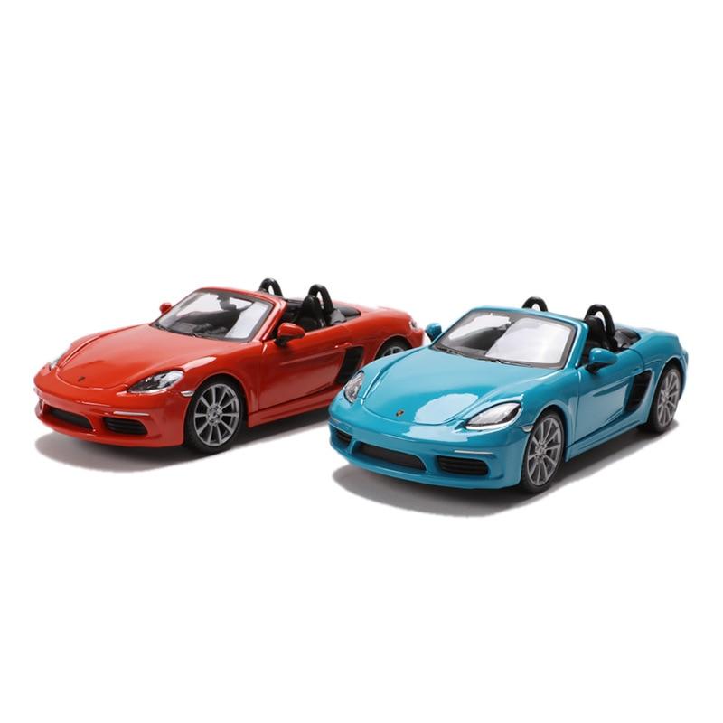Bburago 1 24 Simulation Metal super toy car model For Porsc 718 with Steering wheel control
