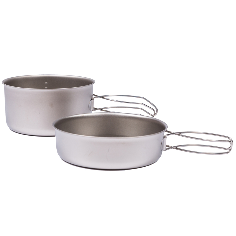Fire-maple STi1-5 Titanium Pot Sets 1-2 Man Backpacking Cookware Pot and Pan Set Lightweight Outdoor Camping Hiking Ultralight